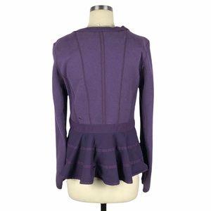 LULULEMON Ruffled Up Pullover Sweatshirt Purple